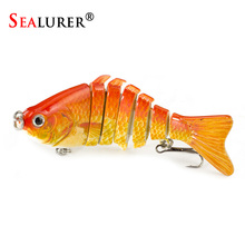 SEALURER Crankbaits Fishing Wobblers Lures 10cm 12g 7 Segments With Artificial Hooks Winter Pesca Hard Baits Swimbait 1pcs/lot(China)