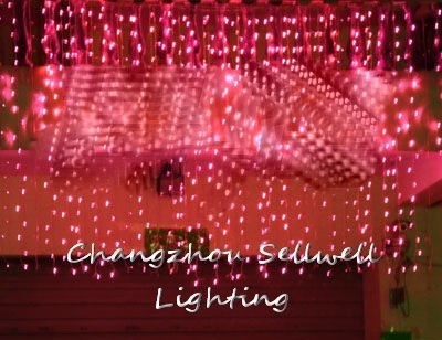GREAT!Wedding celebration product backdrop decoration 3*3m red LED lamp H183<br>
