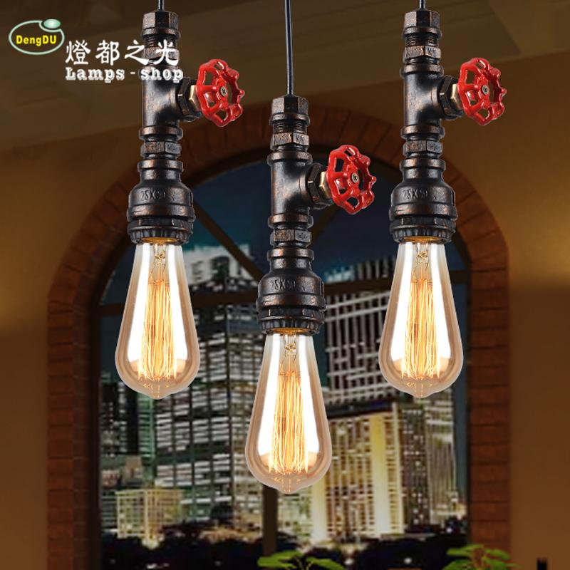 American country creative personality retro industrial iron bar Cafe tube chandelier Chandelier<br>