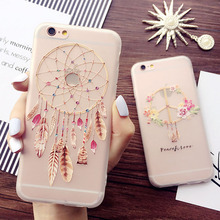 Newest Super Cute 3D relief Dream Catcher Fashion Phone Case For iPhone 7 6 6S 6Plus 6sPlus 7plus Ultra Thin Cover Fundas Capa