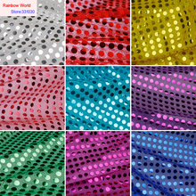 6mm Sequins Net Fabric with paillette for DIY Toy Wedding sets Marriage celebrates show dress clothing material(1 meter)