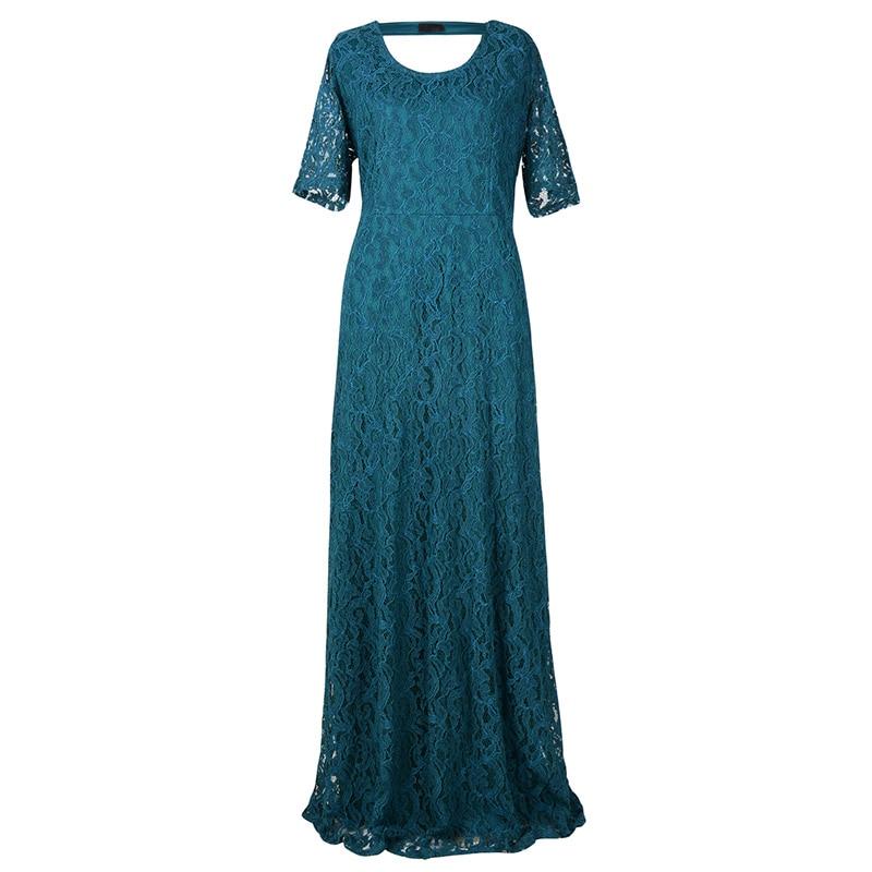 Nemidor Women's Full Lace Plus Size Evening Maxi Dress (5)