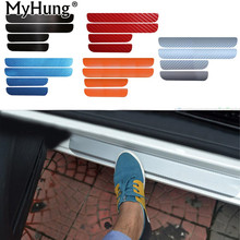 Door Sill Scuff Car Door Plate Car Stickers For Volkswagen VW Golf 6 MK6 2009-2013 Car styling Carbon fiber Car Accessories New