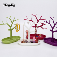 Tree Shape Creative Jewelry Rack Jewelry Display Stand plastic storage shelving Pendant Ring Earrings Organizer Storage Rack