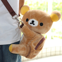 Original Japanese Kawaii Plush Bear Animal Shaped Cute Rilakkuma Messenger Bag Shoulder Coin Purse Plush Bag Girl Christmas Gift