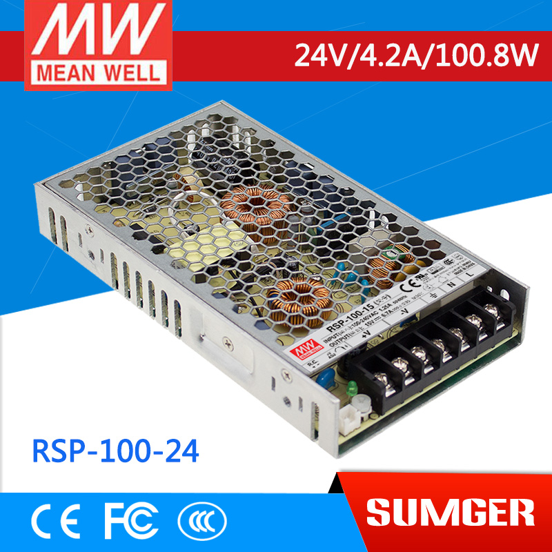 [SumgerT3] MEAN WELL original RSP-100-24 24V 4.2A meanwell RSP-100 24V 100.8W Single Output with PFC Function Power Supply<br><br>Aliexpress