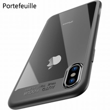 Portefeuille for iPhone X Case PC TPU Hybrid Ultra Thin Hard Protect Case Cover for iPhone 10 8 Plus 7 6 6S 5 5S SE Accessories(China)