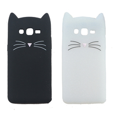 3D Cute Japan Glitter Bearded Cat Case For Samsung Galaxy J3 J3109 J3 Pro J3110 J3 2016 J320 Cover Silicone Mobile Phone Bags
