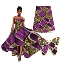 High quality African clothing super wax fabrics for dress H16050919