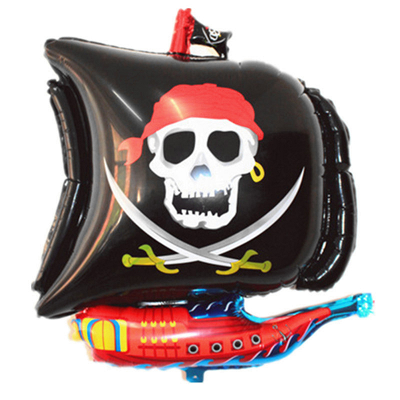 Halloween Cartoon Pirate Boat Foil Balloons Inflatable Kids Toys Party Favors Festival Party Decorative Balloon Skull Balloon