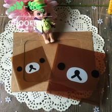 100pcs/lot Rirakkuma OPP Gift Self-adhesive Seal Plastic Gift Packaging Bag Event Candy and Cookie Baking Bag BZ018(China)