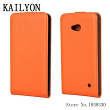KAILYON New Luxury Flip Vertical PU Leather Cell Phone Case Cover For Microsoft Nokia Lumia 640 LTE Dual SIM Case Cover Shell Ba