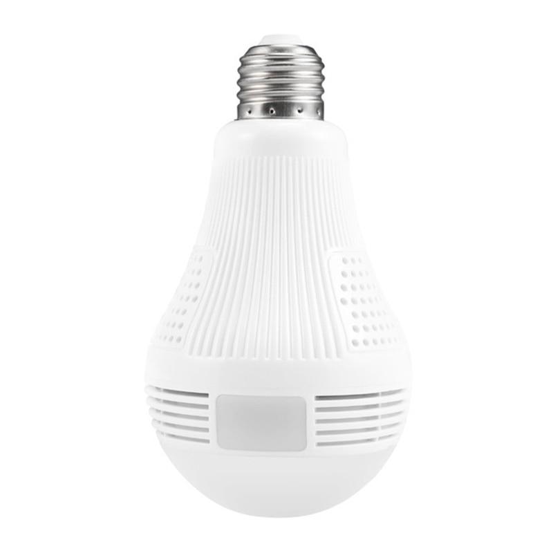 1.3MP Bulb Light Wireless IP Camera Panoramic Wi-Fi Lamp FishEye WIFI Camera 360 Degree Mini CCTV Home Security Mini P2P Camara<br>