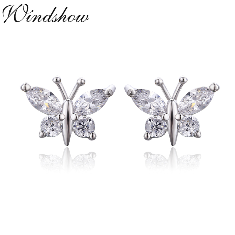 Childrens 925 Sterling Silver Butterfly Jewelry with Crystals So Chic Jewels