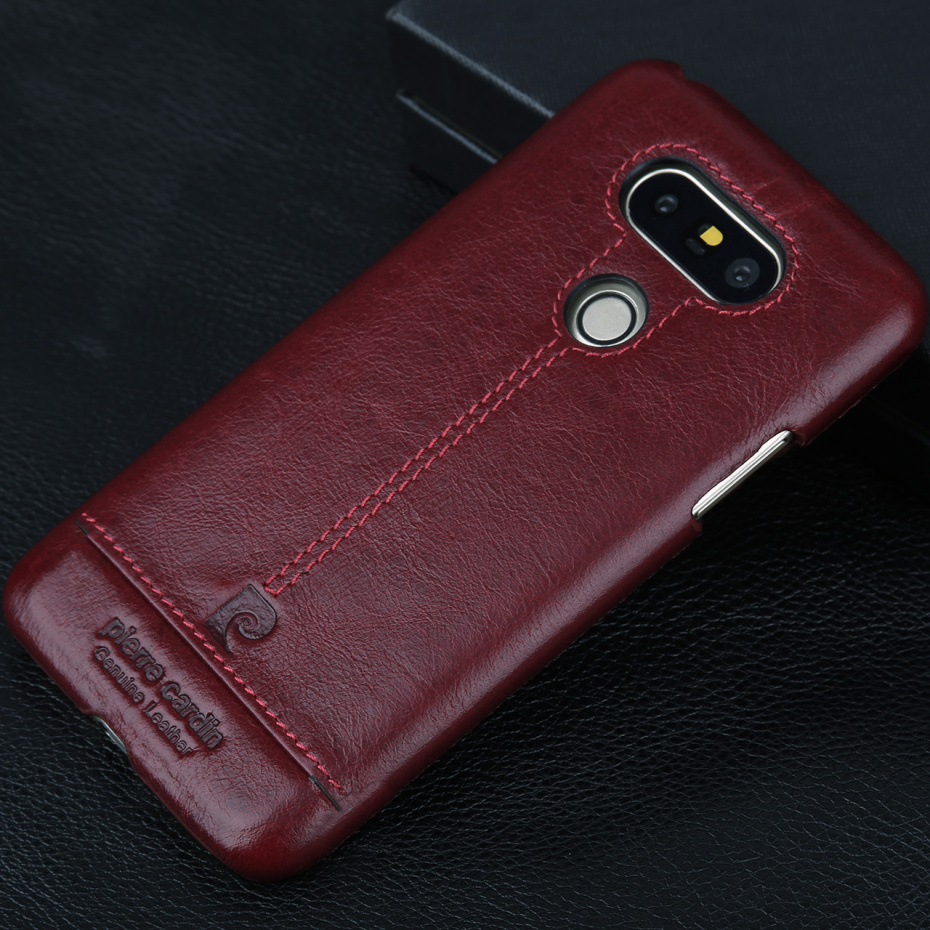 For LG G6 Case Luxury Genuine Leather Hard Slim Cover (26)