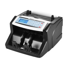 Aibecy Multi-currency Money Counter Cash Counter Banknote Cash Money Bill Counter with UV/MT/MG/IR/DD Counterfeit Bill Detector(China)