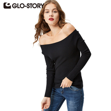 GLO-STORY Sweater Women Pullover 2017 Lady Autumn Winter Knitted Sweater Plus Size Jumper Women Sweater Tops WMY-2615