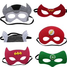 1pc Super Man Mask Batman Super Hero The Flash Captain America The Avengers Kids Birthday Gift Costume Cosplay Party Supplies(China)