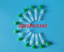 Graduated Cryo Vial Laboratory frozen tube with silicone pad 1.5ml flat bottom can be standed GREEN clear(China)