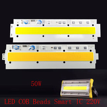 COB chip lamp light 50 w 220V to 240V ip65 smart ic suitable for diy led searchlight cold white/warm white(China)