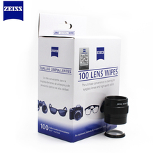 Zeiss Pre-moistened Lens Wipes Cleaning for Eyeglass Lenses Sunglasses Camera Lenses Cell Phone Laptop Lens Clothes 100ct Pack(China)