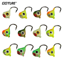 Goture 12pcs 1g 1.4cm Winter Fishing Lure Ice Fishing Jig Fake Artificial Bait Fishing Tackle(China)