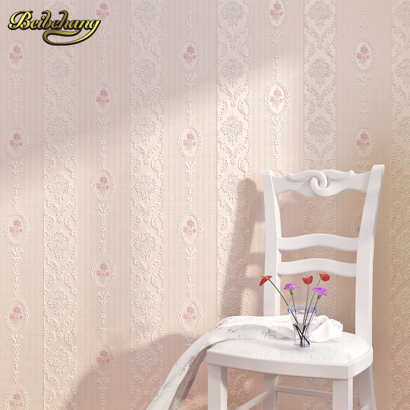 beibehang stripes wallpaper TV background wall brief 3D flocking embossed wall paper roll tapete papel de parede for Living room<br>