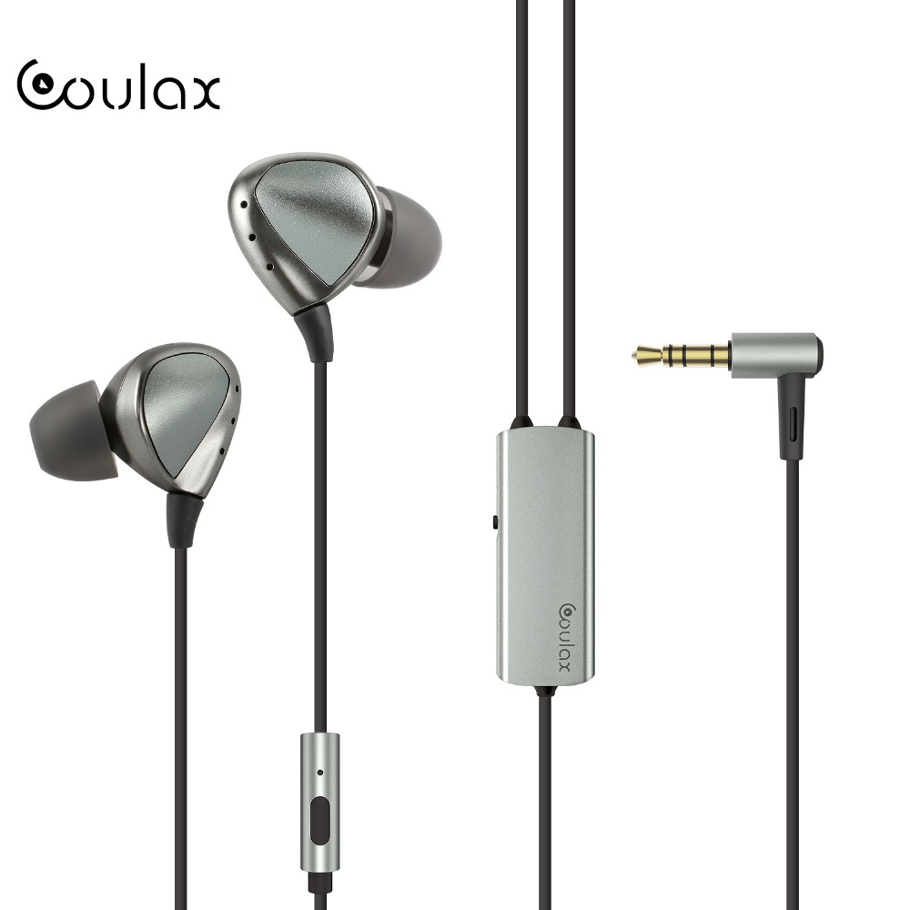 COULAX HIFI Wired Earphone Intelligent Active Noise Cancelling Headphone high Sound Quality Built In Rechargeable Battery <br>