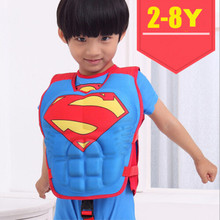 Drop ship Size 2-8 baby children swimming life vest kids life jacket Superman Spider-man Batman Buoyancy clothing cool for kids