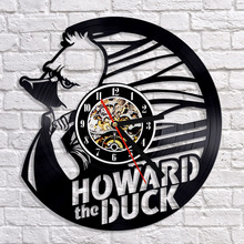 Free Shipping 1Piece Howard The Duck Vinyl Wall Clock 12 Inch Personalised Vintage Vinyl LP Record Wall Clock Wall Art For Kids