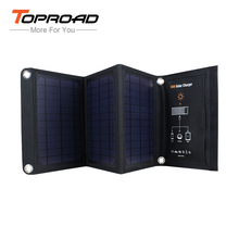 TOPROAD 16W Portable Foldable Folding Solar Panel Pack Power Bank Dual USB Battery Charger For Smart Phones PDA MP3/4 Speaker