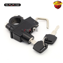 Motorcycle/ Motorbike/ Sports bicycle / Exercise bicycle Helmet Lock Univesal For 22MM 7/8 handlebar(China)