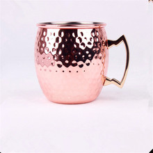 LC Mugs 100% Pure Copper Moscow Mule Mugs Durable Beer Coffee Cocktail Mug Cup Drinkware Smooth Classic Barrel Hige Guality