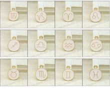 Buy Wholesale 36pcs/lot Enamel Alloy Gold-color jewelry Mixed Zodiac pendants charms bracelet necklace DIY jewelry making for $8.93 in AliExpress store