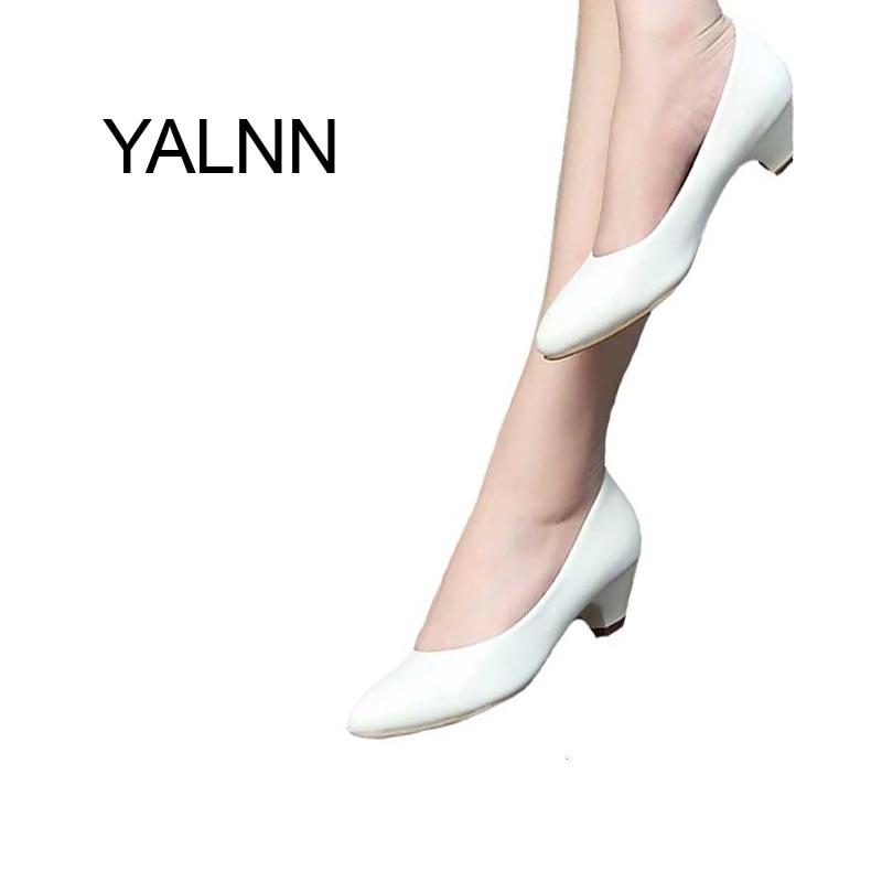 Concise 3cm New Black Mature Women High Heels Pump heels Shoes Office Lady Dress Pumps Women Shoes<br><br>Aliexpress