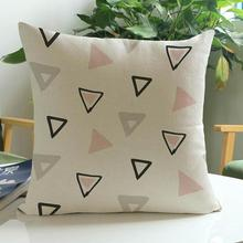 Modern Simple And Stylish Geometric Triangle Diamond Pattern Soft Short Plush Throw Pillow Cushion For Home Sofa