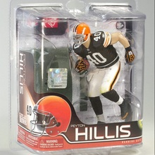 Animation Garage Kid Collection Toys Action Figure PVC Dolls NFL Cleveland Browns Football Player Peyton Hillis Model Best Gifts(China)