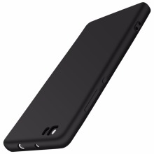 Silicone Case For Huawei P8 Lite Ultra Thin Luxury Back Cover Matte Rubber Brand Phone Bag Case Black For Huawei P8 Lite