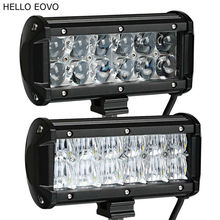 HELLO EOVO 4D 5D 7 Inch 60W 2pcs LED Light Bar for Work Indicators Driving Offroad Boat Car Tractor Truck 4x4 SUV ATV 12V 24v(China)