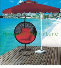 Black new pe rattan egg shape hanging chair,outdoor furniture(China)