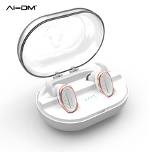 AIDM Bluetooth Handset Mini True Wireless Earbuds in Ear Noise Canceling Twins Earphones with Mic Charging Box for iPhone Xiaomi(China)