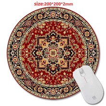 Design Print Circular Persian Carpet Wholesale New Round Mouse Pad Antiskid Rubber Mat game Mouse Pad, Office Gift 200*200*2mm
