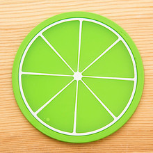 Hot Fruit Coaster Colorful Silicone Cup Drinks Holder Mat Tableware Placemat Creative Skid Insulation Silicone Gel Cup Mat Pad(China)