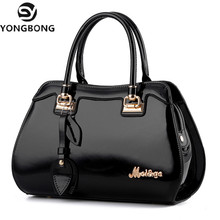 YONGBONG 2017 Patent Leather Women bag Ladies Cross Body Messenger Shoulder Bags Handbags Women Famous Brands bolsa feminina