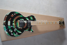 Factory Price Hot selling 6 Strings EMG pick-up G-LP Zakk Wylde Guitar Green Circle Electric Guitar free shipping