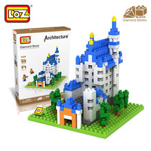 Mr.Froger LOZ New Swan Stone Castle Diamond Block World Famous Architecture Series Bavaria Germany City House Building Blocks(China)