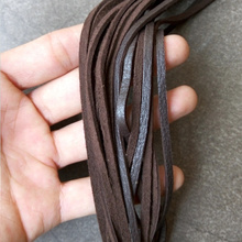 Supply Indian Genuine Deerskin Leather Rope Cords For Bracelet or Neckalce Jewelry Making AAA Quality, long 80~100cm* Wide 3mm(China)