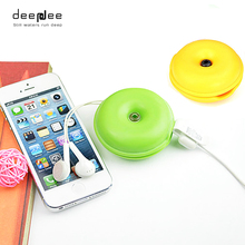 DEEPDEE Turtles Shape Cable Winder Cute Storage Box Cable Clip Beautiful Wire Organizer Holder for Earphone Line For Charge Line
