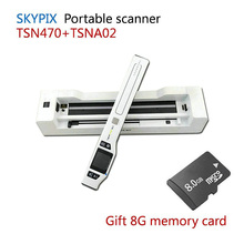 Skypix TSN470 + A02 HD 1050DPI Portable A4 Document Scanner JPG/PDF File Scanner With Stand and Free 8GB SD Card