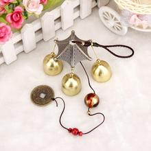 High Quality Amazing Great Sound Bronze Color Bells Wind Chimes China Copper Coin Home Decor Happy Gifts